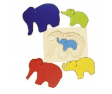 "Layer puzzle ""Elephants"""
