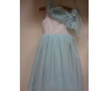 """Meiteņu kleita """"Džollija"""" debesszila"""
