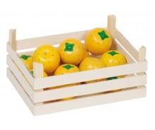 Kaste ar 12 rotaļu apelsīniem