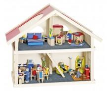Leļļu māja ar 2 stāviem