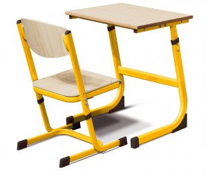 Regulējams krēsls 5-6 dzeltens