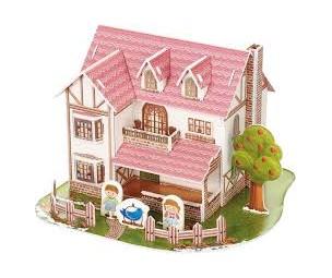 3D māja puzle