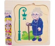 Vairākslāņu puzle Vecmāmiņas dzīve