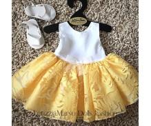 Lelles kleita balts / dzeltena