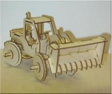 3D modelis Buldozers