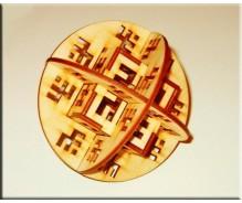 3D modelis Latvju kubs lodē